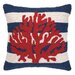 <strong>Peking Handicraft</strong> Nautical Hook Coral Stripe Pillow