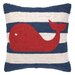 <strong>Nautical Hook Whale Stripe Pillow</strong> by Peking Handicraft