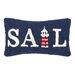 Peking Handicraft Nautical Hook Sail Pillow