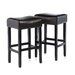 "Home Loft Concept George Backless 31"" Leather Bar Stool"