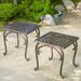 Potenza Cast Aluminum Bronze Outdoor End Table (Set of 2)