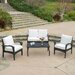 <strong>Bideford 4 Piece Deep Seating Group with Cushions</strong> by Home Loft Concept