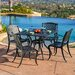<strong>Stanza 5 Piece Cast Aluminum Outdoor Dining Set</strong> by Home Loft Concept