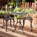 Palms Aluminum Copper Bistro Set