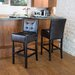 <strong>Princeton Leather Bar Stool (Set of 2)</strong> by Home Loft Concept