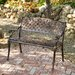 <strong>Home Loft Concept</strong> Candace Cast Aluminum Copper Outdoor Bench