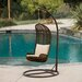 <strong>Home Loft Concept</strong> Zaragoza Wicker Outdoor Swinging Chair