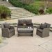 <strong>Home Loft Concept</strong> Driago Outdoor 4 Piece Mixed Seating Set