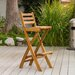 Banyard Foldable Outdoor Wood Barstool