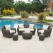 <strong>Beaufort Outdoor 6 Piece Wicker Seating Set</strong> by Home Loft Concept