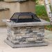 Jeremy Outdoor Natural Stone Fire Pit