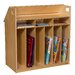 <strong>Birch Book Display with Storage</strong> by Wood Designs