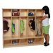 <strong>Five Section Offset Seat Locker</strong> by Wood Designs