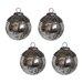 White x White Mercury Glass Ornament (Set of 4)