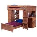 <strong>Chelsea Home</strong> Twin Over Twin L-Shaped Bunk Bed with Desk and Chest End