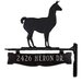 <strong>One Line Post Sign with Llama</strong> by Montague Metal Products Inc.