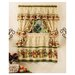 "Achim Importing Co Apple Orchard Cottage 57"" Valance and Tier Set"