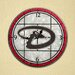"MLB 12"" Art Glass Clock"