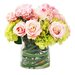 <strong>Spring Hydrangeas and Roses in Glass Vase</strong> by Creative Displays, Inc.