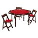 "<strong>Kestell Furniture</strong> 57"" Maple Period Style Folding Poker Table Set"