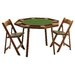 "46"" Oak Compact Folding Poker Table Set"