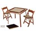 35&quot; Oak Folding Game &amp; Card Table Combo