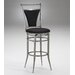 "Cierra Black 26"" Swivel Counter Stool"