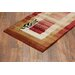 Infinity Home Dulcet Red Whisper Twigs Rug