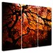 <strong>'Fire Breather: Japanese Tree' by John Black 3 Piece Graphic Art Ca...</strong> by Art Wall