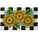 <strong>Entryways</strong> Checkers Sunflower Doormat