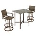 <strong>Urban Outdoor 3 Piece Bar Height Dining Set</strong> by Home Styles
