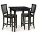 Arts and Crafts 3 Piece Counter Height Pub Table Set in Ebony