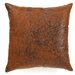 The Pillow Collection Jazzy Plain Faux Leather Pillow