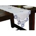 <strong>Cutwork Embroidered Flower Table Runner</strong> by Xia Home Fashions