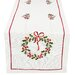 <strong>Country Wreath Embroidered Hemstitch Holiday Table Runner</strong> by Xia Home Fashions