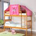 Donco Kids Donco Kids Twin Mission Bunk Bed with Tent Kit