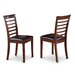 <strong>Wooden Importers</strong> Picasso Side Chair with Faux Leather Seat