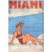 <strong>Miami Lady Vintage Advertisment on Canvas</strong> by Oliver Gal by One Bella Casa