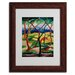 <strong>Franz Marc 'Weasels Playing 1911' Matted Framed Art</strong> by Trademark Fine Art