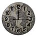 "Oversized 23.6"" Metal Wall Clock"