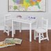 <strong>Dorel Asia</strong> Kiddy 3 Piece Rectangle Table and Chair Set (Dry Erase Top)