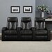 <strong>Wall Hugger Home Theater Recliner (Row of 3)</strong> by ProLounger