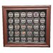 <strong>NHL Thirty Puck Cabinet Style Display Case in Mahogany</strong> by Caseworks International
