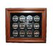 Caseworks International NHL Twelve Puck Cabinet Style Display Case in Brown