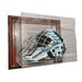 NHL Goalie Mask Case Up Display Case in Brown