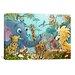 iCanvasArt Jungle Cartoon Animals Children Art Canvas Print Wall Art