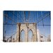 iCanvasArt Brooklyn Bridge by Monte Nagler Photographic Print on Canvas