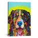 iCanvasArt 'Burnese Mountain Dog' by Dean Russo Graphic Art on Canvas