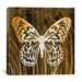 "<strong>iCanvasArt</strong> ""Butterflies & Leaves"" Canvas Wall Art by Erin Clark"