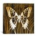 "<strong>iCanvasArt</strong> ""Butterflies & Leaves I"" Canvas Wall Art by Erin Clark"